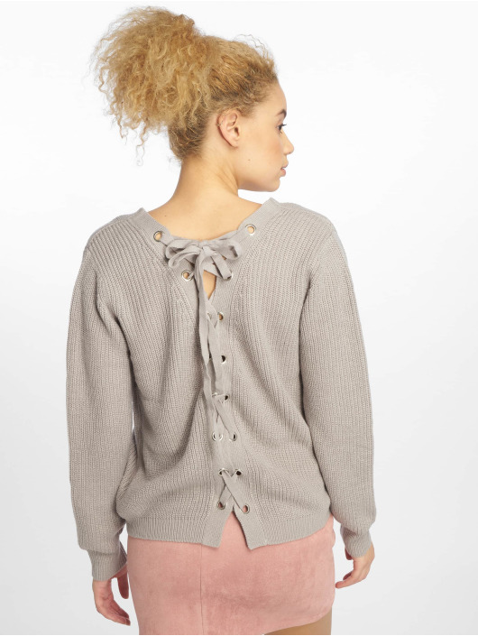 Urban Classics Pullover Back Lace Up grau