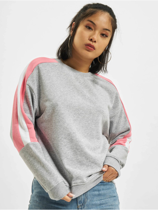 Urban Classics Pullover Panel Terry grau