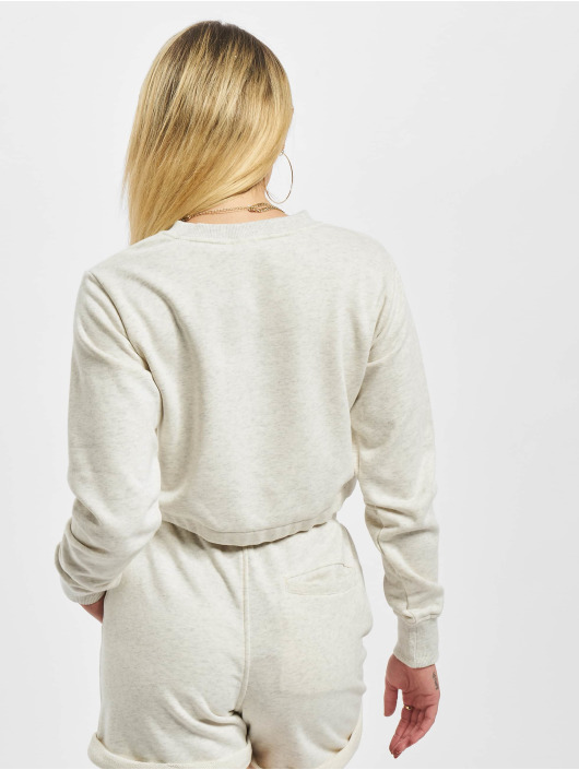 Urban Classics Pullover Ladies Oversized Cropped Crewneck grau