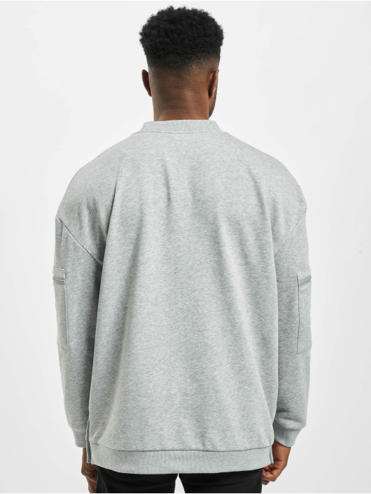 Urban Classics Pullover Training Terry Crew grau