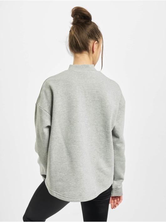 Urban Classics Pullover Ladies Oversized High Neck Crew grau