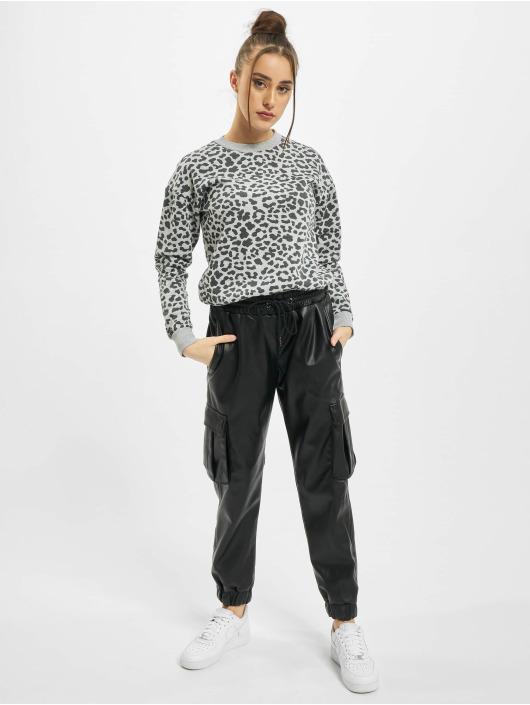 Urban Classics Pullover Ladies AOP Leo grau