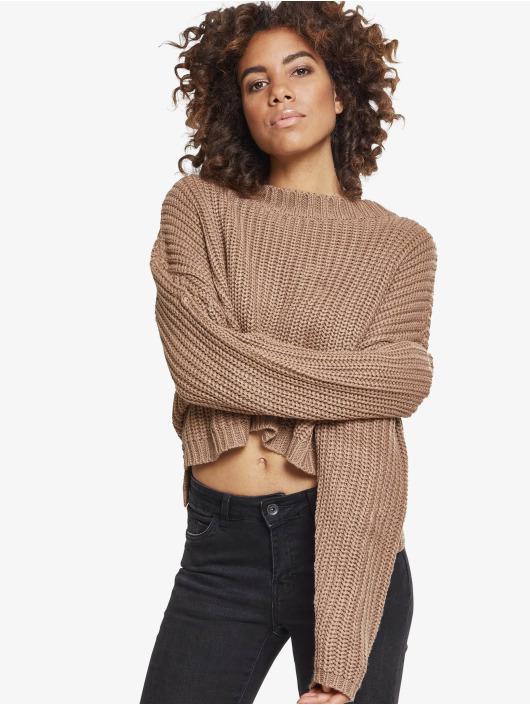 Urban Classics Pullover Ladies Wide Oversize grau