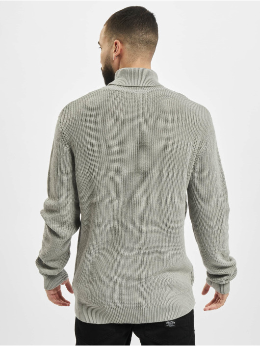 Urban Classics Pullover Cardigan Stitch Roll Neck gray
