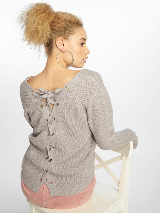 Urban Classics Pullover Back Lace Up grey