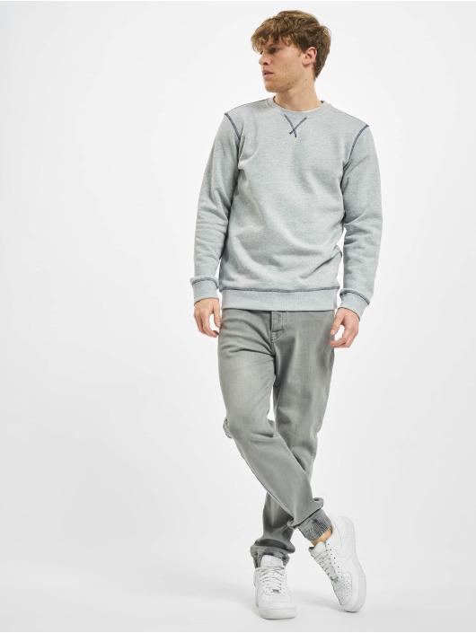 Urban Classics Pullover Organic Contrast Flatlock Stitched grey