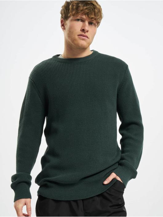 Urban Classics Pullover Cardigan Stitch grün