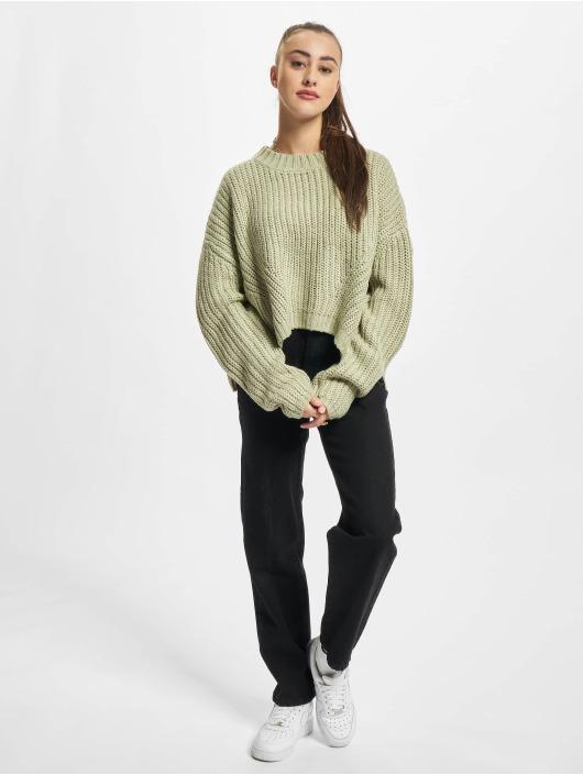 Urban Classics Pullover Ladies Wide Oversize grün