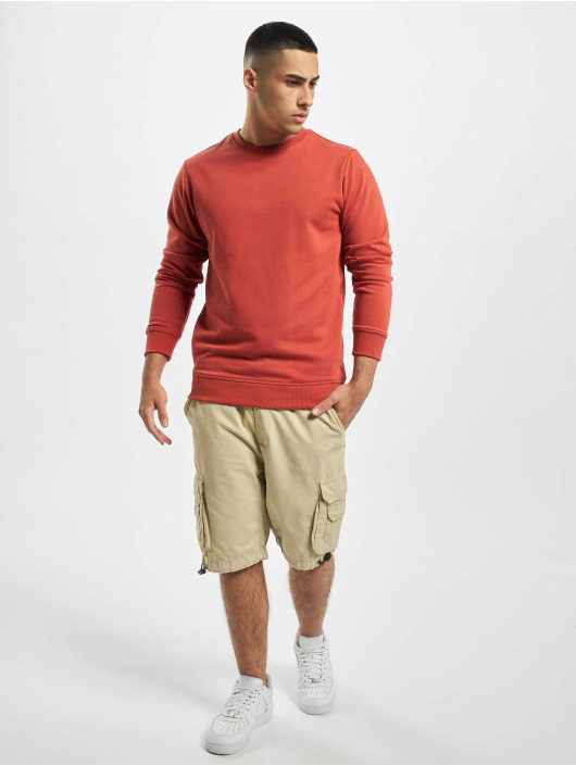 Urban Classics Pullover Basic Terry Crew red