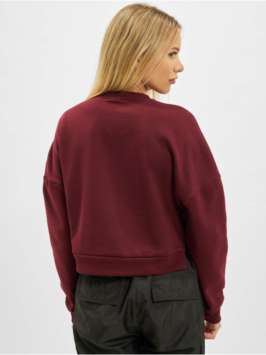 Urban Classics Pullover Inset Striped rot