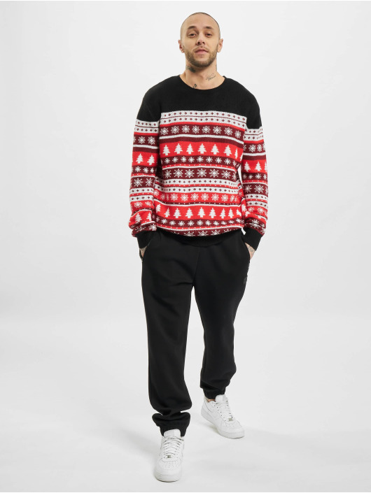 Urban Classics Pullover Snowflakes Christmas rot