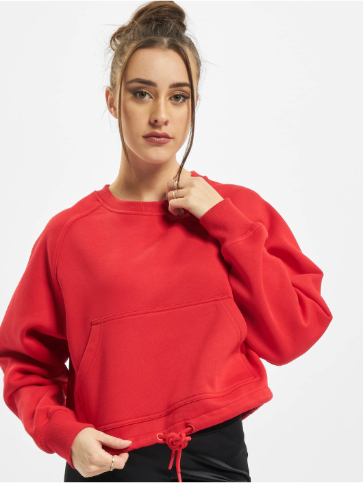 Urban Classics Pullover Ladies Oversized Short Raglan rot
