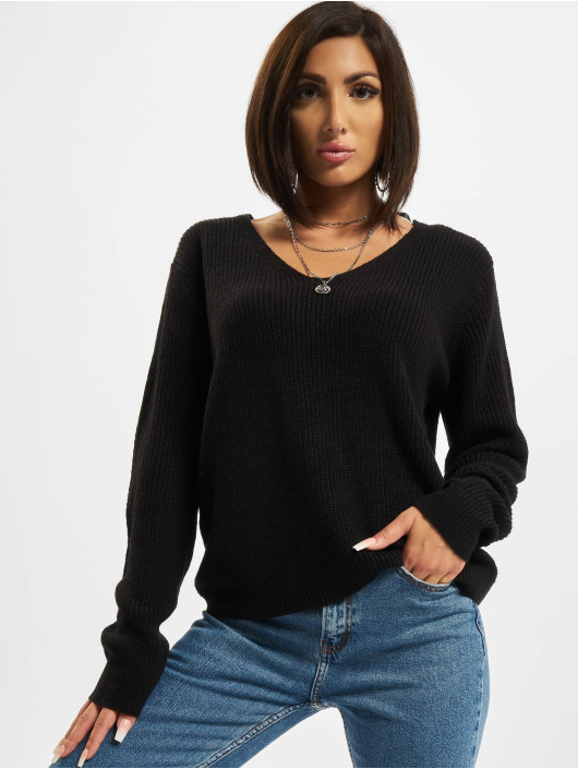 Urban Classics Pullover Back Lace Up schwarz