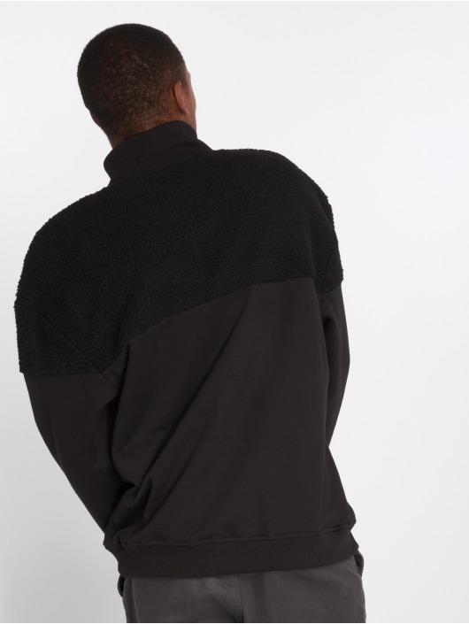 Urban Classics Pullover Oversize Sherpa schwarz