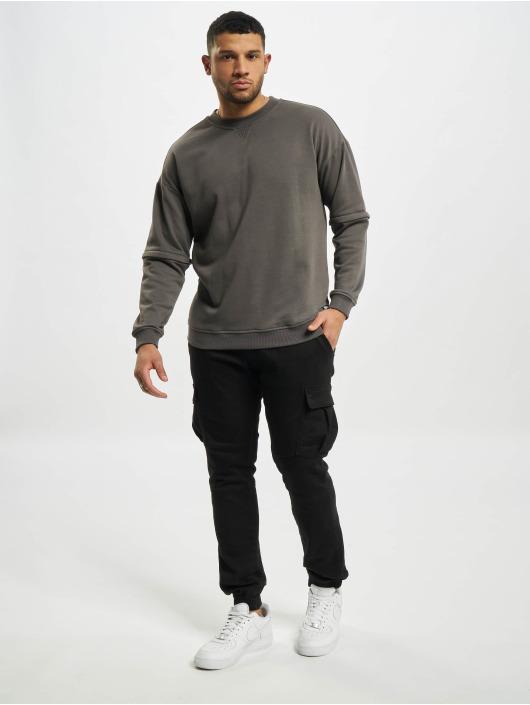 Urban Classics Pullover Zip Away Oversized Terry Crew schwarz