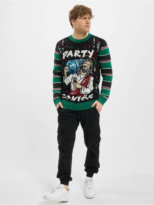 Urban Classics Pullover Savior Christmas schwarz