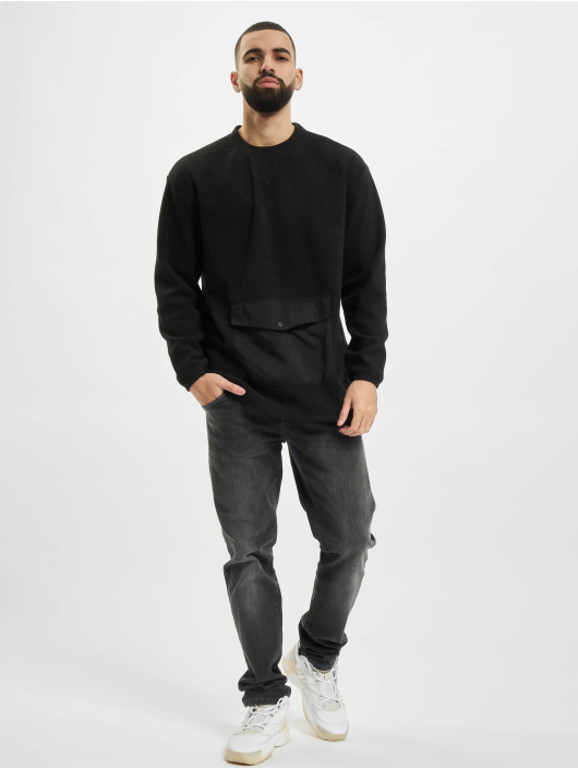 Urban Classics Pullover Polar Fleece Pocket Crew schwarz
