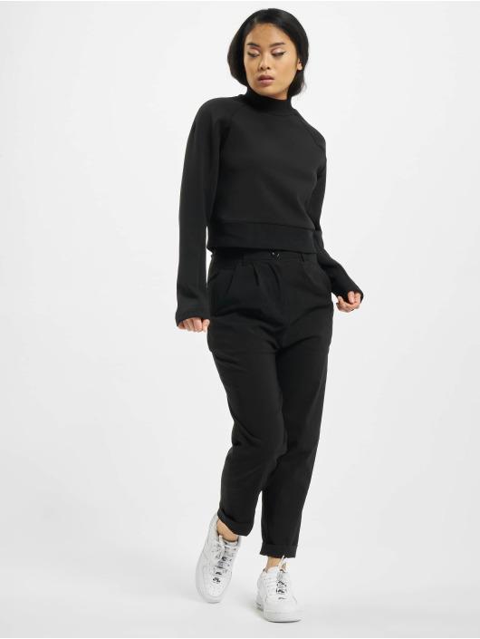 Urban Classics Pullover Ladies Interlock Short schwarz
