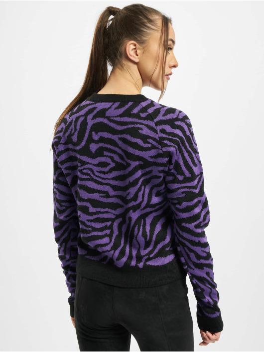 Urban Classics Pullover Ladies Short Tiger schwarz