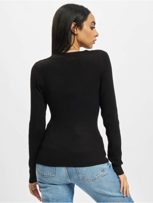 Urban Classics Pullover Ladies Wide Neckline schwarz