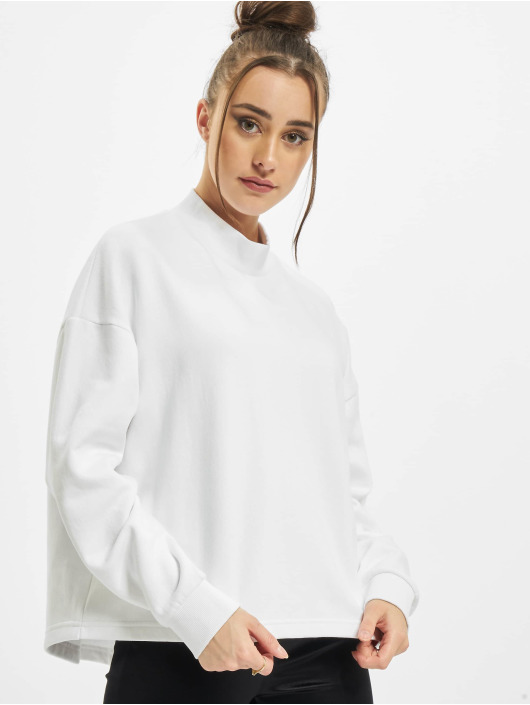 Urban Classics Pullover Ladies Oversized High Neck Crew weiß