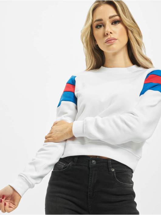 Urban Classics Pullover Sleeve Strip white