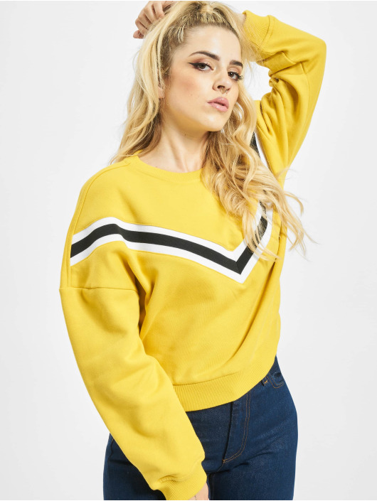 Urban Classics Pullover Inset Striped yellow