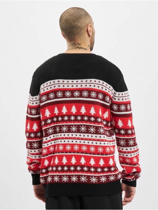 Urban Classics Pulóvre Snowflakes Christmas èervená