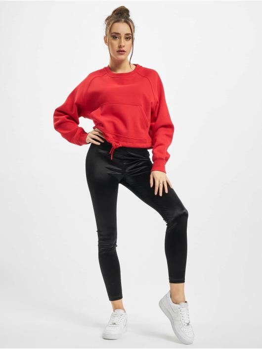 Urban Classics Pulóvre Ladies Oversized Short Raglan èervená