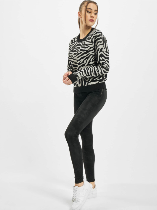 Urban Classics Pulóvre Ladies Short Tiger èierna