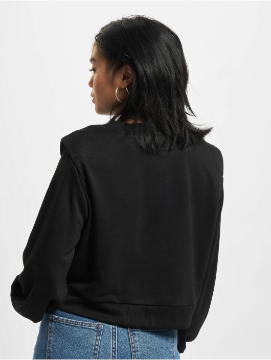 Urban Classics Pulóvre Ladies Padded Shoulder Modal Terry èierna