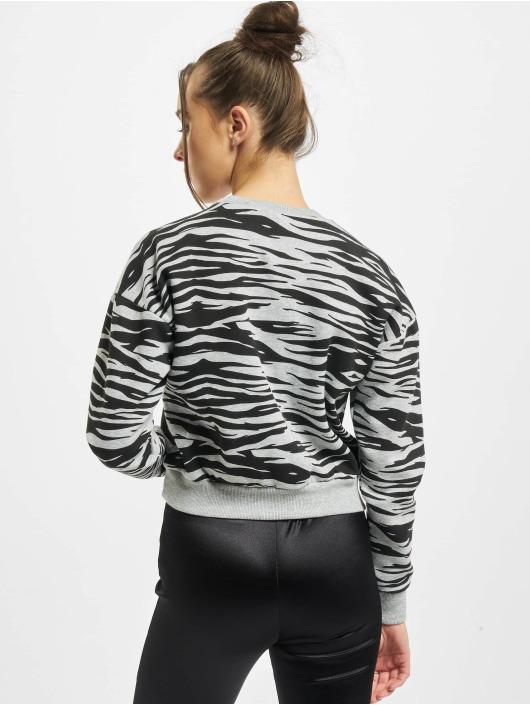 Urban Classics Pulóvre Ladies AOP Short Tiger Crew šedá