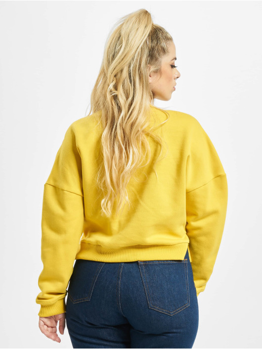 Urban Classics Pulóvre Inset Striped žltá