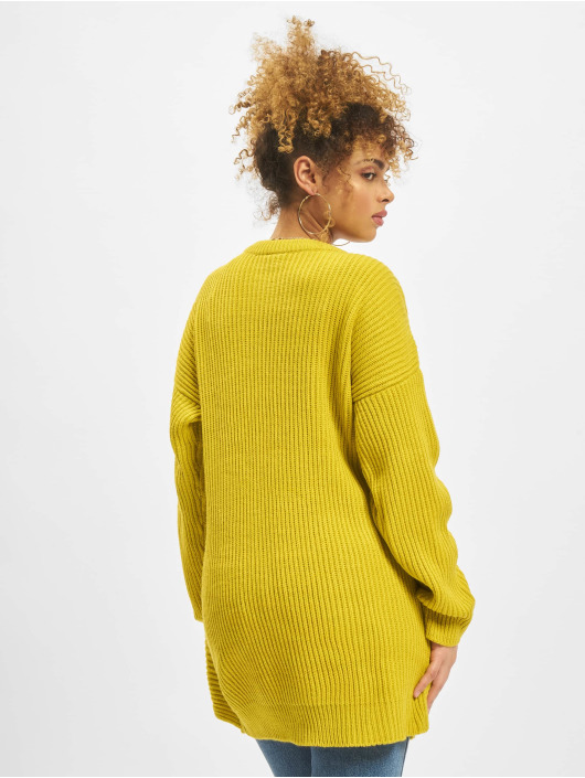 Urban Classics Pulóvre Wrapped žltá