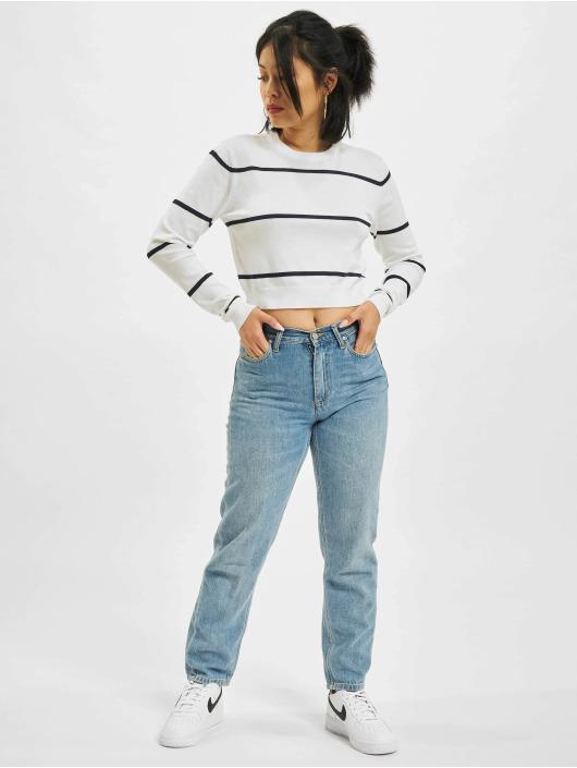 Urban Classics Pulóvre Short Striped biela