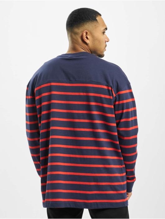 Urban Classics Pulóvre Color Block Stripe Boxy modrá