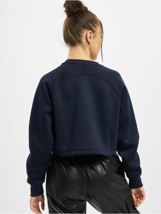 Urban Classics Pulóvre Ladies Oversized Short Raglan Crew modrá