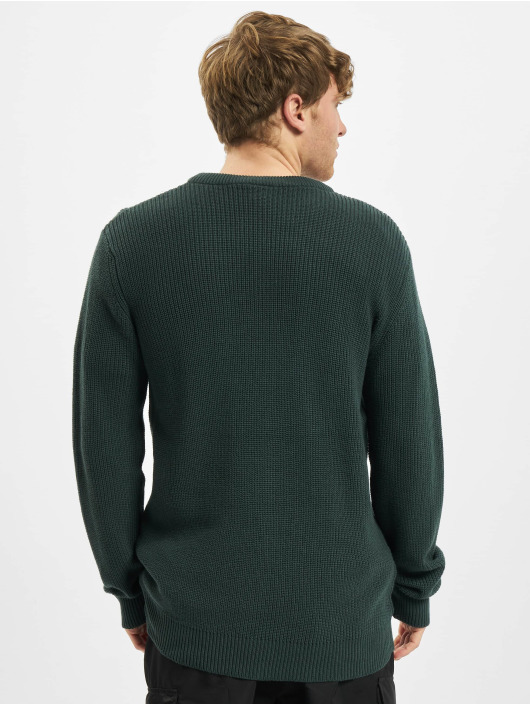 Urban Classics Pulóvre Cardigan Stitch zelená