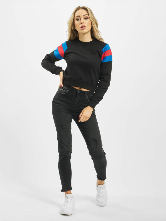Urban Classics Puserot Sleeve Stripe musta