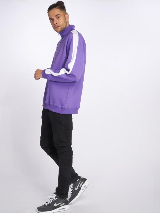 Urban Classics Puserot Oversize Stripe Troyer purpuranpunainen