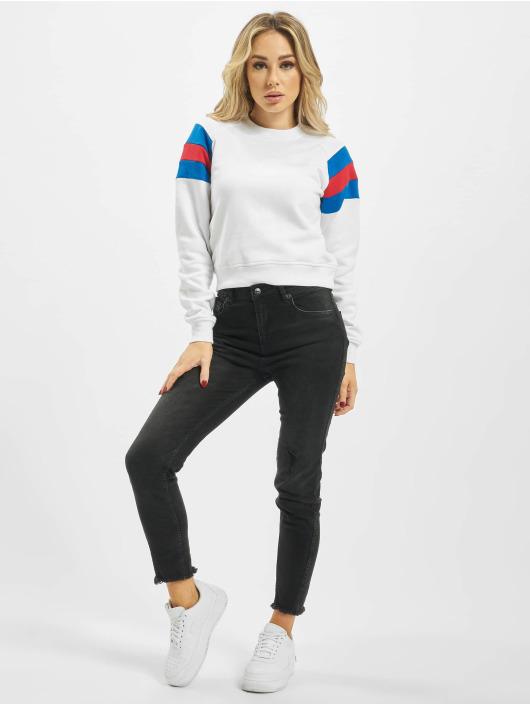 Urban Classics Puserot Sleeve Strip valkoinen