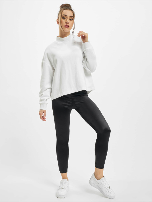 Urban Classics Puserot Ladies Oversized High Neck Crew valkoinen
