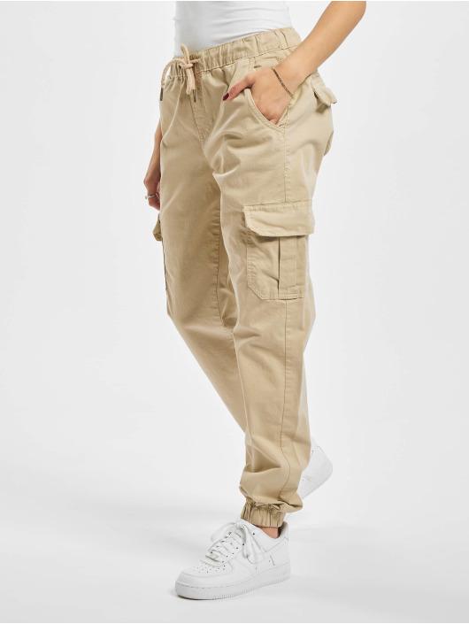 Urban Classics Reisitaskuhousut Ladies High Waist Cargo Jogging beige