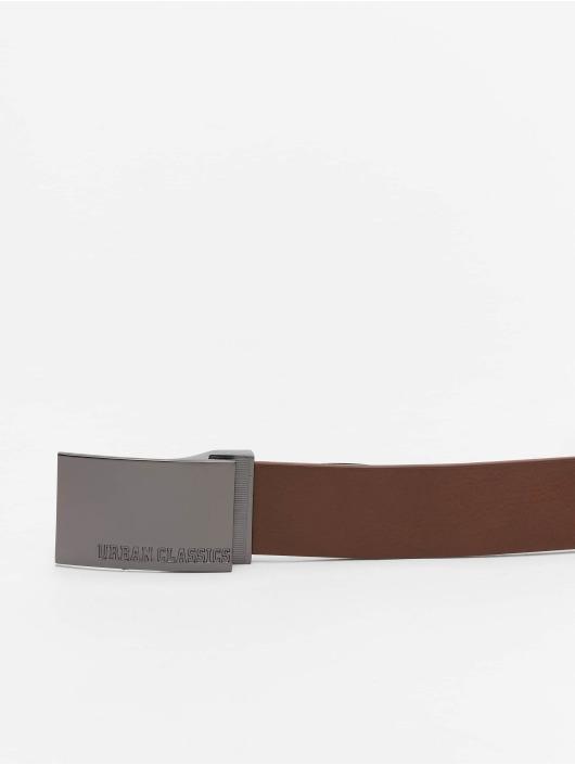 Urban Classics riem Imitation Leather Business bruin