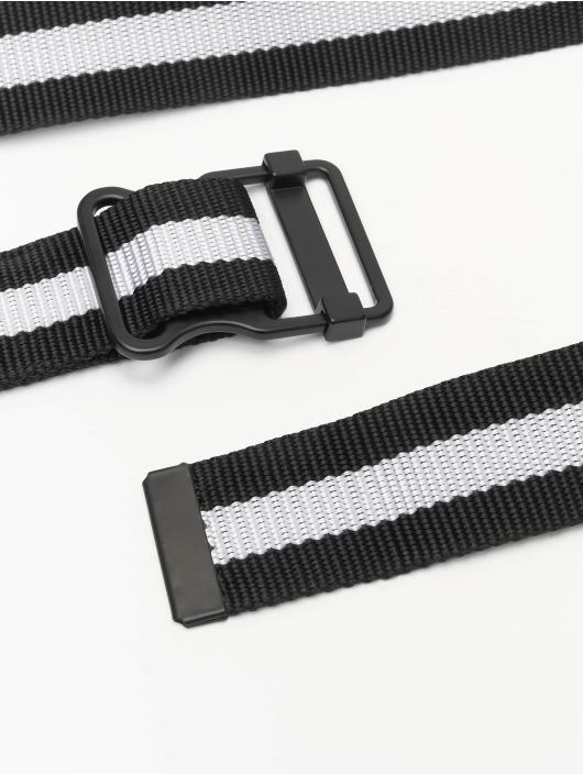 Urban Classics riem Easy With Stripes zwart