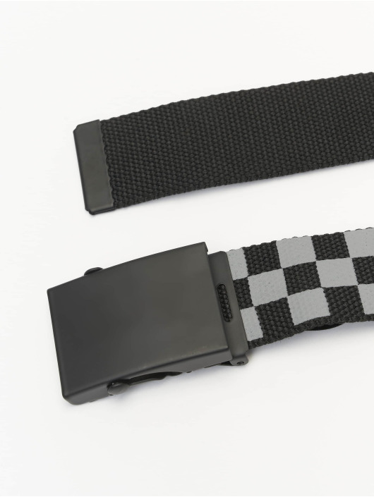 Urban Classics riem Adjustable Checker zwart
