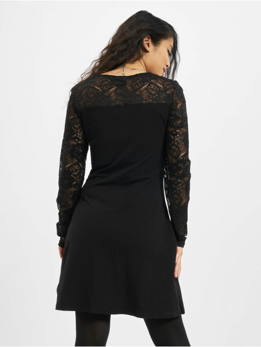 Urban Classics Robe Ladies Lace Block noir
