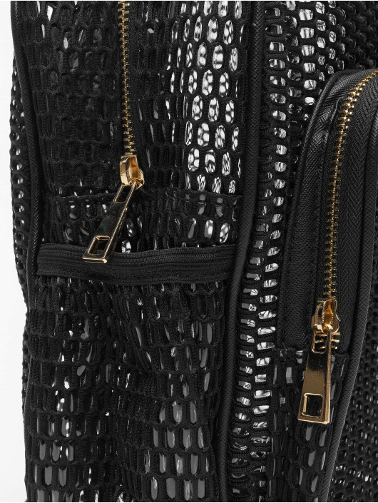 Urban Classics rugzak Lady Mesh Transparent zwart