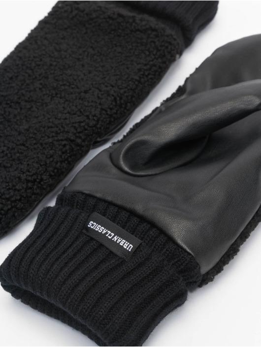 Urban Classics Rukavice Sherpa Imitation Leather èierna