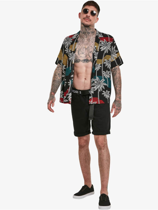 Urban Classics Shirt Palm Tree Resort black